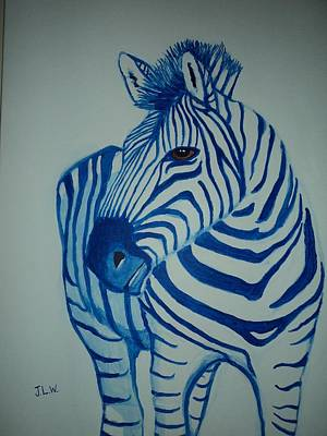Art Print featuring the painting Blue Stripes by Justin Lee Williams