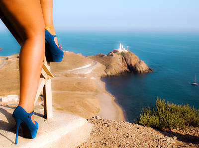 Photograph - Blue Suede Shoes by Galileo Rock