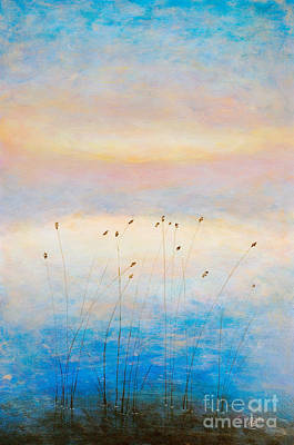 Waterscape Painting - Blue Sunrise by Martin Capek