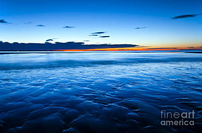 Photograph - Blue Sunrise Wells Beach Maine  by Glenn Gordon