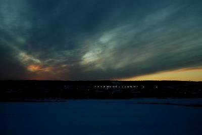 Photograph - Blue Sunset by Dakota Light Photography By Dakota