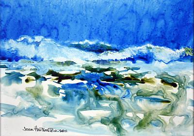 Blue Surf Art Print by Joan Hartenstein