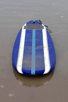 Blue Surfboard Art Print