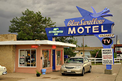 Photograph - Blue Swallow Motel by Ricky Barnard