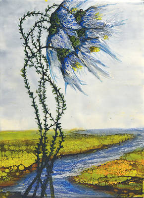 Painting - Blue Tangle by Jennifer  Creech