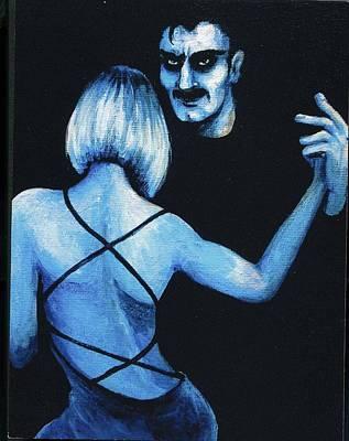 Wall Art - Painting - Blue Tango by Jakki Moore