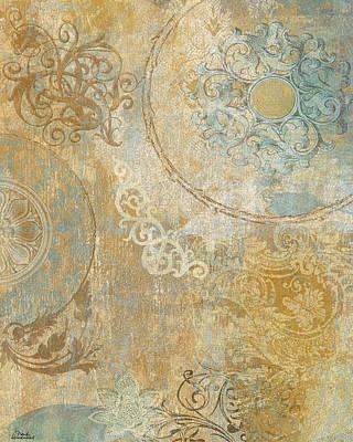 Tapestries Textiles Digital Art - Blue Tapestry by Marilu Windvand