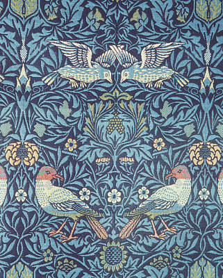 Tapestries - Textiles Digital Art - Blue Tapestry by William Morris