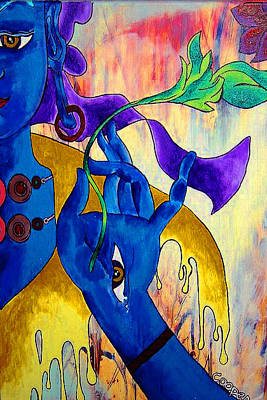 Tibetan Buddhism Painting - Blue Tara  by Kevin J Cooper Artwork