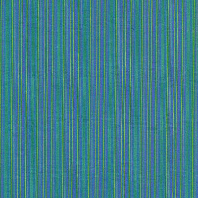 Blue Teal And Yellow Striped Textile Background Art Print by Keith Webber Jr