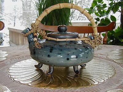 Blue Teapot Art Print by Beth Gramith