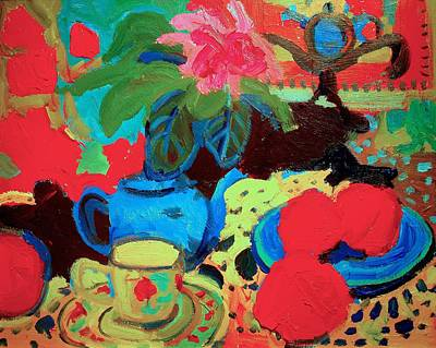 Painting - Blue Teapot by Brian Simons