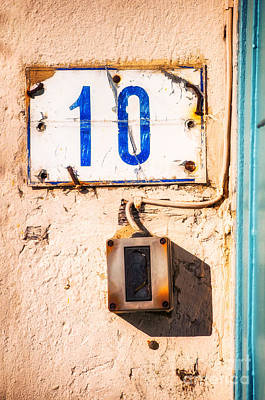 Photograph - Blue Ten With Rotten Doorbell by Silvia Ganora