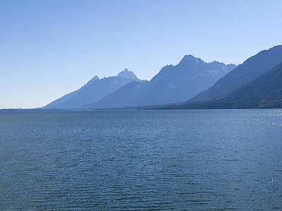 Photograph - Blue Tetons by Jill Bell