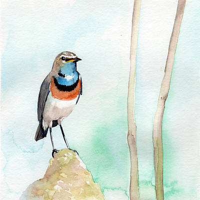 Painting - Blue Throat by Sean Parnell