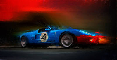 Digital Art - Blue Thunder by Alan Greene