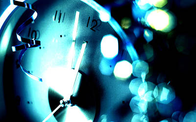 Time Photograph - Blue Time by VRL Art
