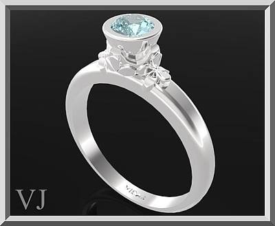 Gemstone Engagement Ring Jewelry - Blue Topaz Sterling Silver Engagement Ring by Roi Avidar
