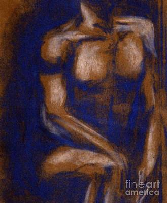 Painting - Blue Torso by Patricia  Tierney