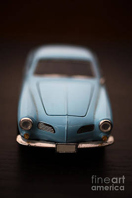 Photograph - Blue Toy Car by Edward Fielding