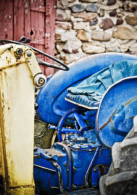 Americana Photograph - Blue Tractor by Marilyn Hunt