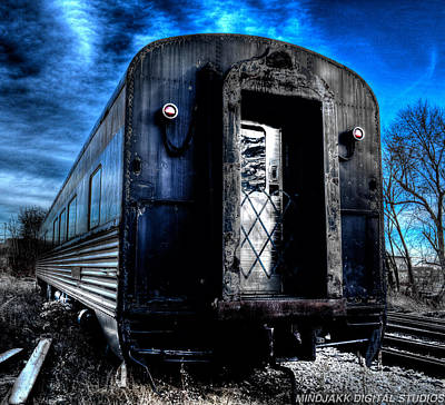 Photograph - Blue Train by Jonny D