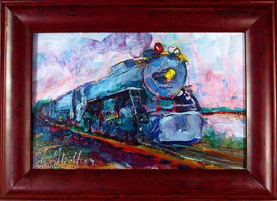 Painting - Blue Train by Les Leffingwell