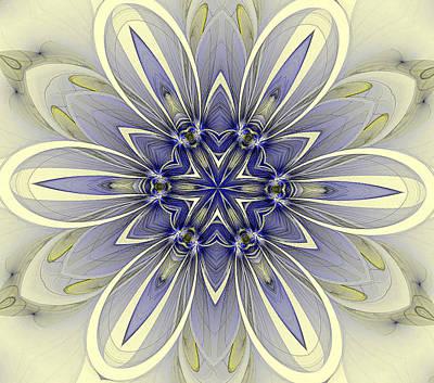 Blue Trance Art Print