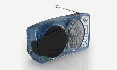 Blue Transistor Radio Print by Dorling Kindersley/uig