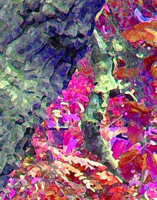 Photograph - Blue Tree Pink Leaves by Stephanie Grant