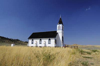 Photograph - Blue Trim Church by Fran Riley