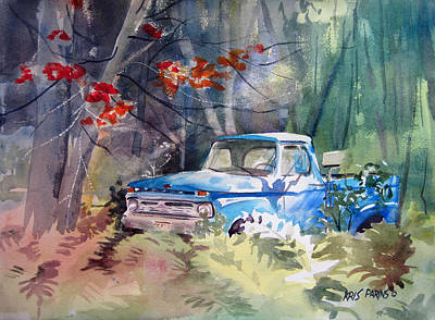 Truck Painting - Blue Truck by Kris Parins