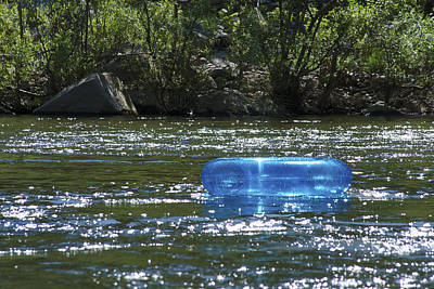 Photograph - Blue Floaty - Inner Tube On The River by Jane Eleanor Nicholas