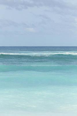 Blue Turquoise Teal Beach Gradient Photo Art Print Art Print by Ocean Photos
