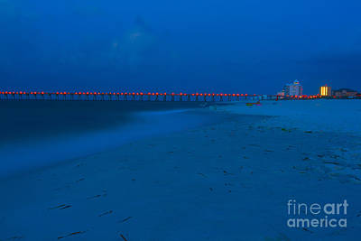 Photograph - Blue Twilight Beach And Pier by Ben Sellars