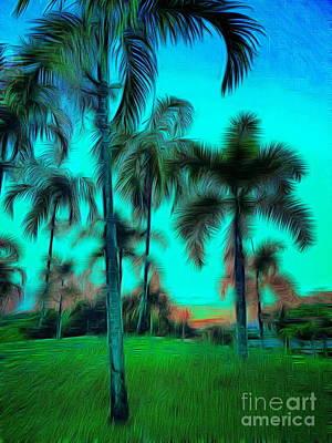 Digital Art - Blue Twilight by Ian Gledhill