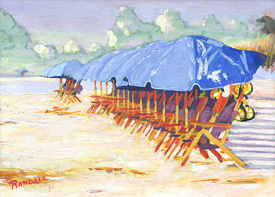 Painting - Blue Umbrellas by David Randall