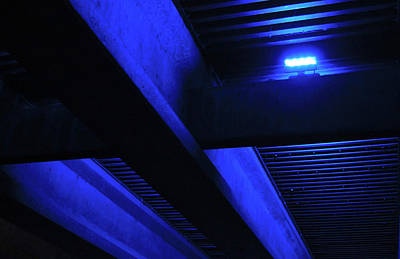 Photograph - Blue Underpass by Tony Grider