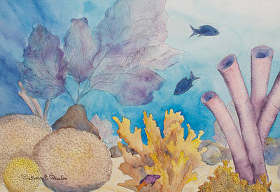 Painting - Blue Underwater by Patricia Beebe