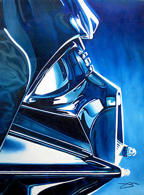 Painting - Blue Vader by Joshua Morton