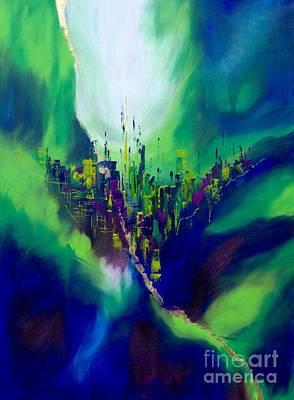 Blue Valley Art Print by Pia Malmstrup