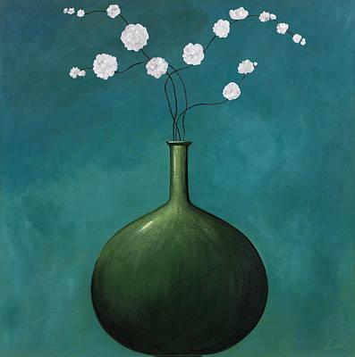 Blue Vase 1 Art Print by Pablo Esteban