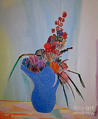 Painting - Blue Vase 22 by Bill OConnor