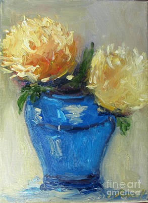 Painting - Blue Vase Color Study by Barbara Anna Knauf