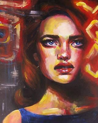 Lana Del Rey Painting - Blue Velvet by Natalie Beck