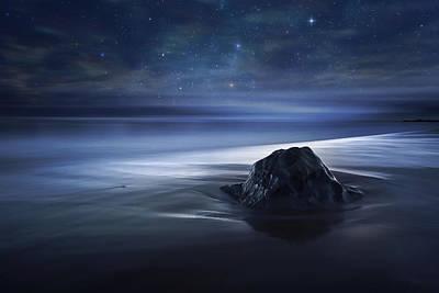 Boulder Wall Art - Photograph - Blue Velvet by Sebastien Del Grosso