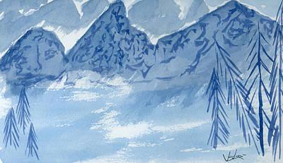 Blue View #2 Art Print