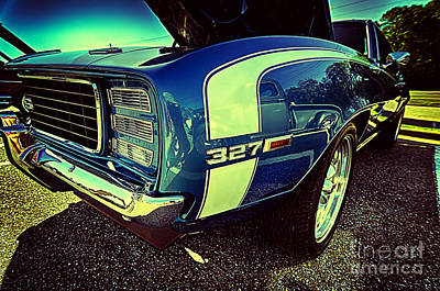 Photograph - Blue Vintage Muscle Car by Danny Hooks