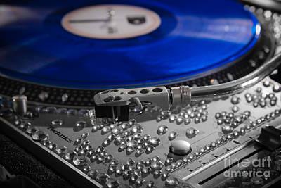 Blue Vinyl Art Print by Jt PhotoDesign