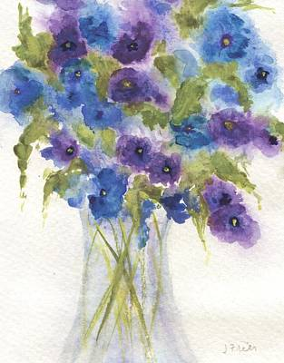 Painting - Blue Violet Flower Vase by Jamie Frier
